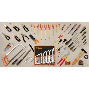 Torba narzędziowa (2112/c12) z zestawem 60 narzędzi dla elektrotechników (5980et/a)...