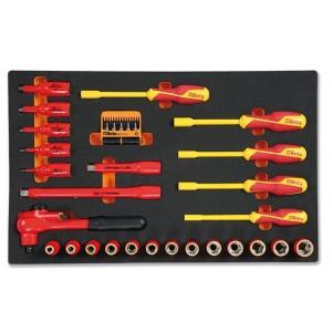 Wkład profilowany miękki do zestawu narzędzi 2450/m110 pusty Beta 2451/MV110