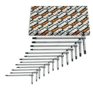 Komplet kluczy trzpieniowych profil torx typu t 951tx t8-t50 13 sztuk w kartonie Beta...