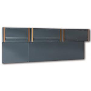 Moduł pionowy - trzy szafki wiszące racing system c55 z uchylnymi drzwiczkami z ramą...