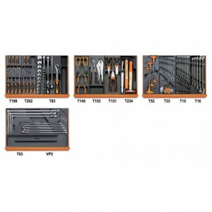 Zestaw 102 narzędzi we wkładach profilowanych miękkich do obsługi pojazdów Beta 5904VG/3T