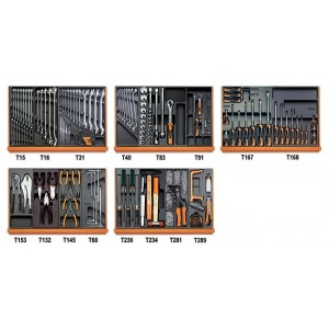 Zestaw 151 narzędzi we wkładach profilowanych twardych do użytku w przemyśle Beta...