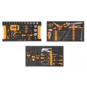 Zestaw 109 narzędzi we wkładach profilowanych miękkich do ogólnego użytku do skrzyni...