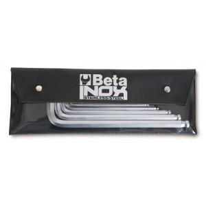 Komplet kluczy trzpieniowych kątowych sześciokątnych z kulistą końcówką 96bpinox 2-10mm...