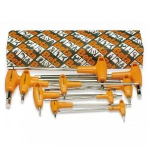 """Komplet kluczy trzpieniowych kątowych sześciokątnych calowych z rękojeścią 96tas 3/32""""-..."""