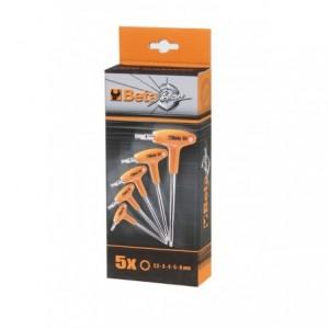 Komplet kluczy trzpieniowych kątowych sześciokątnych z rękojeścią 96t 2,5-6mm 5 sztuk w...