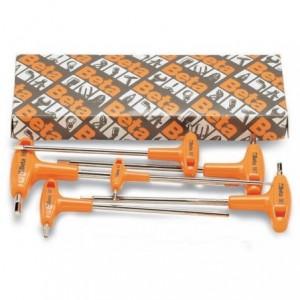 Komplet kluczy trzpieniowych kątowych sześciokątnych z rękojeścią 96t 2-6mm 6 sztuk w...