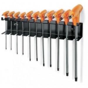 Komplet kluczy trzpieniowych kątowych profil torx z rękojeścią 97ttx t8-t50 11 sztuk w...