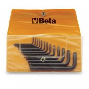 Komplet kluczy trzpieniowych kątowych profil torx 97tx t6 - t50 8 sztuk w pokrowcu Beta...