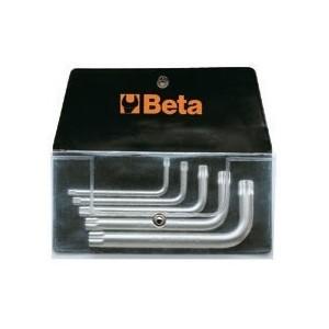Komplet kluczy trzpieniowych kątowych profil xzn 98xzn m5 - m12 5 sztuk w pokrowcu Beta...