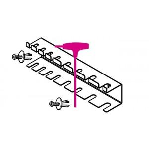 Uchwyt do kluczy typu t do ośmiu kluczy 96t-97ttx z dwoma kołkami zabezpieczającymi ve1...