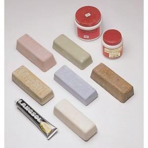 Kostka polerska przemysłowa, polerowanie stali nierdzewnej i aluminium, biała flexovit,