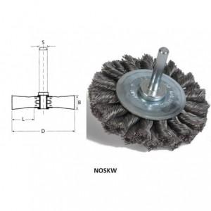 Szczotka tarczowa na trzpieniu, drut pleciony ze stali węglowej, br001-whb noskw...