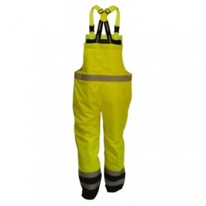 Spodnie na szelkach ostrzeg.żółt-gran.l Beta VWJK113BYN/L