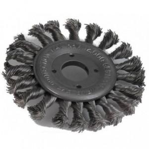 Szczotka tarczowa, drut pleciony ze stali weglowej, br001 -whb noskw 115x11xm14mm, drut...