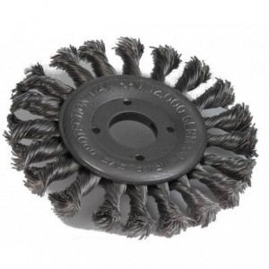 Szczotka tarczowa, drut pleciony ze stali nierdzewnej, br001-whb stskw 115x11x22,2mm,...