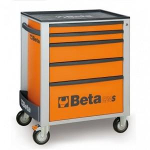 Wózek warsztatowy, narzędziowy BETA z 5 szufladami, pomarańczowy (2400/C24S5O)