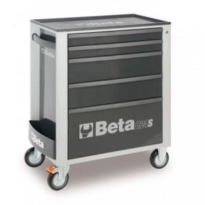 Wózek warsztatowy, narzędziowy BETA z 5 szufladami, szary (2400/C24S5G)