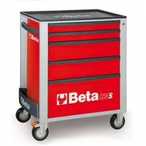 Wózek warsztatowy, narzędziowy BETA z 5 szufladami, czerwony (2400/C24S5R)