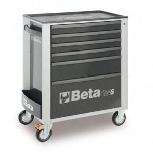 Wózek warsztatowy, narzędziowy BETA z 6 szufladami, szary (2400/C24S6G)