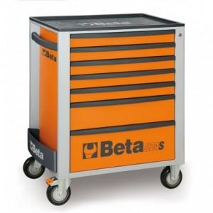 Wózek warsztatowy, narzędziowy BETA z 7 szufladami, pomarańczowy (2400/C24S7O)