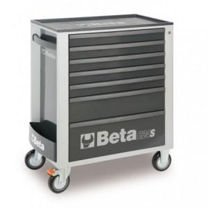 Wózek warsztatowy, narzędziowy BETA z 7 szufladami, szary (2400/C24S7G)
