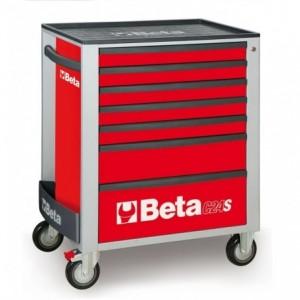 Wózek warsztatowy, narzędziowy BETA z 7 szufladami, czerwony (2400/C24S7R)