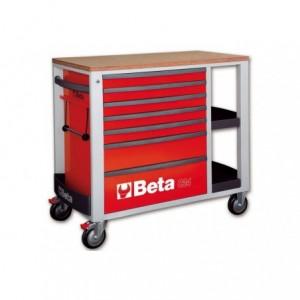 Wózek warsztatowy, narzędziowy BETA z 7 szufladami, czerwony (2400/C24SLR)