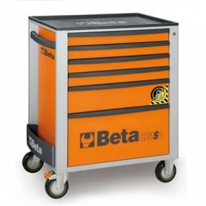 Wózek warsztatowy, narzędziowy BETA z 6 szufladami, pomarańczowy (2400/C24SA/6-O)
