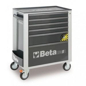 Wózek warsztatowy, narzędziowy BETA z 7 szufladami, szary (2400/C24SA/7-G)