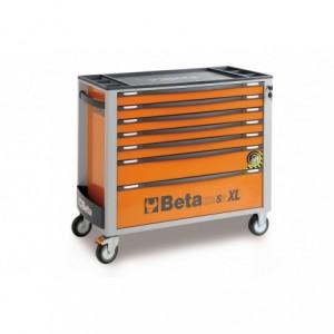 Wózek warsztatowy, narzędziowy BETA z 8 szufladami, pomarańczowy (2400/C24SAXL/8-O)