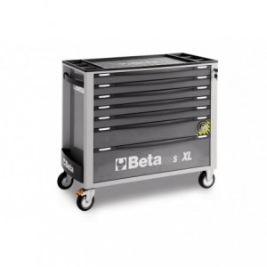 Wózek warsztatowy, narzędziowy BETA z 8 szufladami, szary (2400/C24SAXL/8-G)