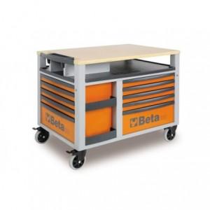 Wózek warsztatowy, narzędziowy BETA SuperTank z 10 szufladami, pomarańczowy (2800/C28O)