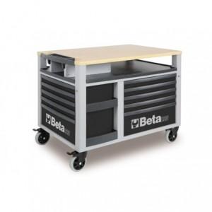 Wózek warsztatowy, narzędziowy BETA SuperTank z 10 szufladami, szary (2800/C28G)