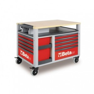 Wózek warsztatowy, narzędziowy BETA SuperTank z 10 szufladami, czerwony (2800/C28R)