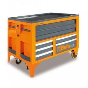 Ruchomy stół warsztatowy BETA MaxiTank z 5 szufladami, pomarańczowy (3000/C30S)