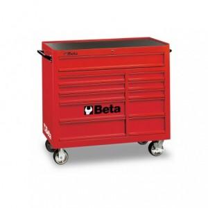 Wózek warsztatowy, narzędziowy BETA z 11 szufladami, czerwony (3800/C38R)