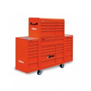 Zestaw warsztatowy, narzędziowy BETA (wózek z zestawem skrzyń), czerwony (3800/C38CR)