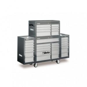 Zestaw warsztatowy, narzędziowy BETA (wózek z zestawem skrzyń), szary (3800/C38CG)