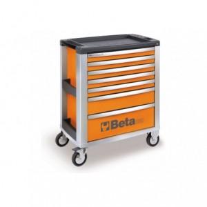 Wózek warsztatowy, narzędziowy BETA z 7 szufladami, pomarańczowy (3900/C39-7/O)