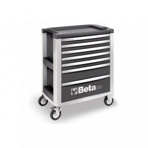 Wózek warsztatowy, narzędziowy BETA z 7 szufladami, szary (3900/C39-7/G)