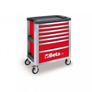 Wózek warsztatowy, narzędziowy BETA z 7 szufladami, czerwony (3900/C39-7/R)