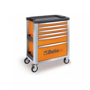 Wózek warsztatowy, narzędziowy BETA z 6 szufladami, pomarańczowy (3900/C39-6/O)