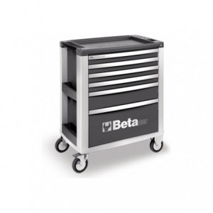 Wózek warsztatowy, narzędziowy BETA z 6 szufladami, szary (3900/C39-6/G)