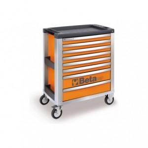 Wózek warsztatowy, narzędziowy BETA z 8 szufladami, pomarańczowy (3900/C39-8/O)