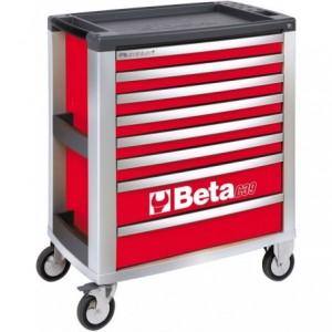 Wózek warsztatowy, narzędziowy BETA z 8 szufladami, czerwony (3900/C39-8/R)