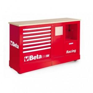 Wózek narzędziowy, warsztatowy BETA, typu Racing SM, czerwony (3900/C39SMR)