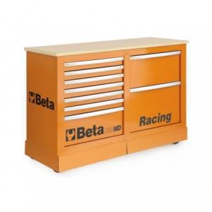 Wózek narzędziowy, warsztatowy BETA, typu Racing SM, pomarańczowy (3900/C39SMDO)