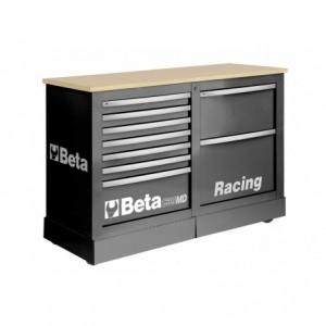 Wózek narzędziowy, warsztatowy BETA, typu Racing SM, szary (3900/C39SMDG)