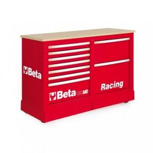 Wózek narzędziowy, warsztatowy BETA, typu Racing SM, czerwony (3900/C39SMDR)